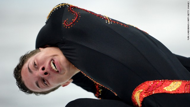 Belgium's Jorik Hendrickx competes in the men's figure skating competition on February 13.