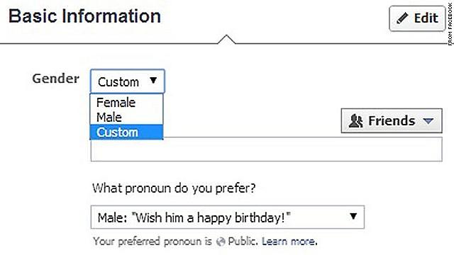 Facebook va más allá de 'masculino' y 'femenino' con nuevas opciones de género