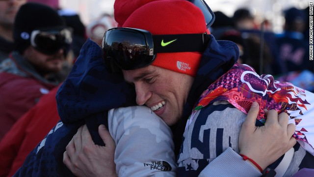 The winners did not hide their emotions. It was a historic moment -- the U.S. has previously only won all three medals in the 2002 men's halfpipe snowboard competition and the 1956 men's individual figure skating singles.