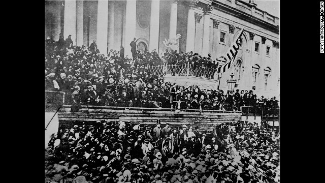 "The plot to topple Abraham Lincoln with the phony ""Miscegenation"" pamphlet failed. Tens of thousands of people, many of them African-Americans, attended and cheered his second inauguration on March 4, 1865. The Civil War and slavery were near an end, and Lincoln's address was somber and moving.<!-- --> </br>"