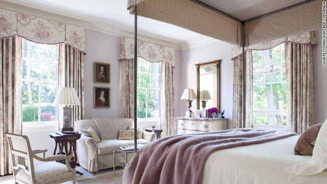 This bedroom, designed by Amelia Handegan, from the July/August 2013 issue of Veranda, focuses on the comfort of guests, from the luxurious bed throw to thoughtfully placed task lighting and seating that anticipates quiet, private moments.