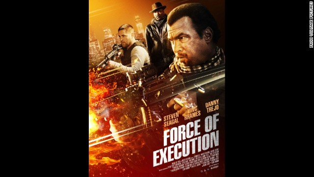 "Steven Seagal's 2013 action thriller <strong>""Force of Execution""</strong> is about a crime boss who, while torn between maintaining his power and exiting his gang altogether, puts his protege up against a new player hungry to take over. (Available February 15.)"