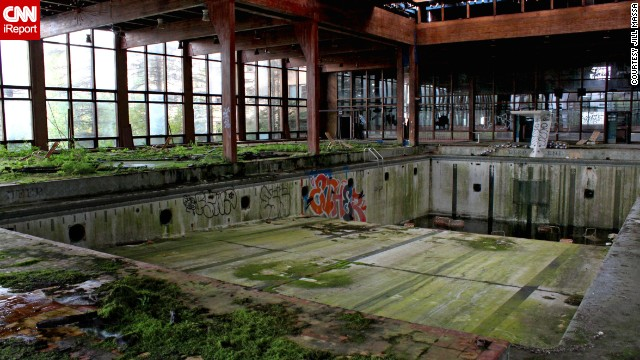 "<a href='http://ireport.cnn.com/docs/DOC-1077203'>Jill Massa</a> visited the abandoned Grossinger's Catskill Resort Hotel in Liberty, New York, back in September 2011. ""I feel like photographers like myself might like the decay of the buildings left how they once were, but unfortunately many abandoned buildings have too much graffiti because too many kids go and vandalize them. It's upsetting,"" she said."