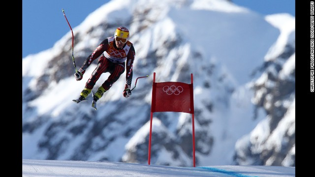 Ivica Kostelic of Croatia competes in the men's super-combined.