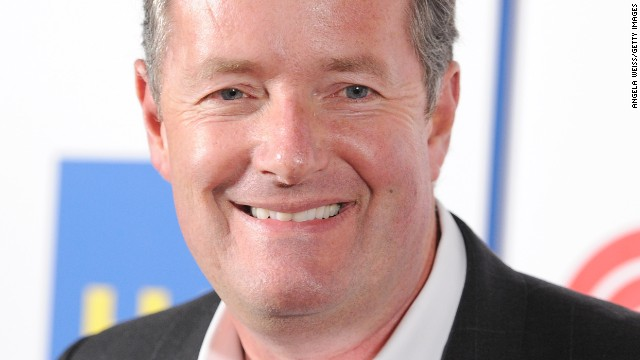 Anchor Piers Morgan is shown at the Langham Hotel on January 10, 2014, in Pasadena, California.
