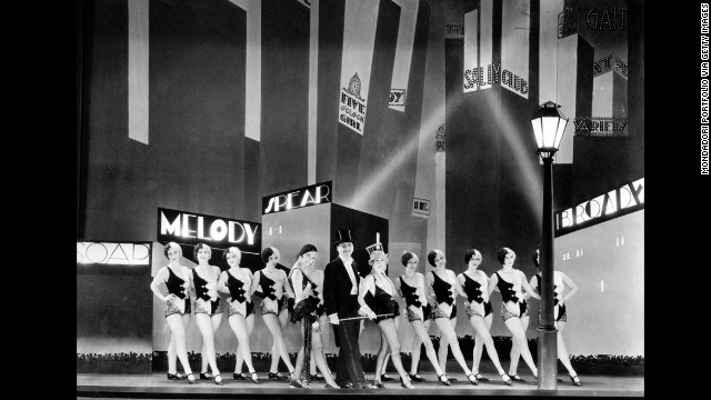 "The musical ""The Broadway Melody"" was the first sound film to win best picture. The film stars Charles King, Anita Page and Bessie Love."