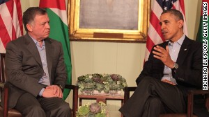Jordan\'s King Abdullah II meets with President Barack Obama on Friday at the Sunnylands Estate in Rancho Mirage, California.