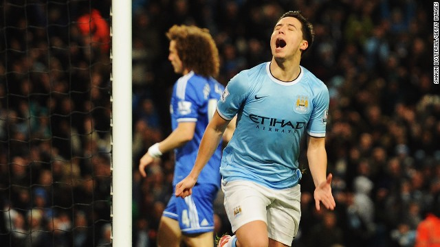 Samir Nasri was jubilant after scoring in Manchester City's 2-0 win over Chelsea in the FA Cup.