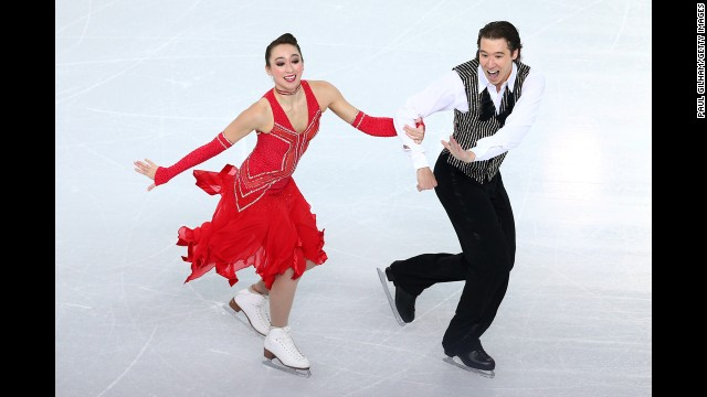 Cathy Reed and Chris Reed of Japan compete in ice dancing on February 16.