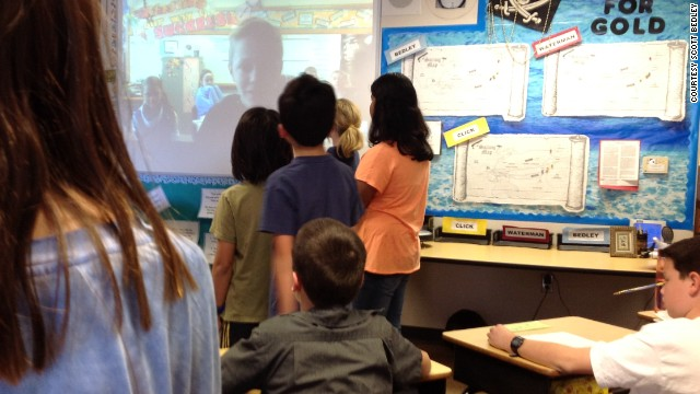 As part of Mystery Skype, students from two different areas connect over video chat and try to deduce where the other is located. Bedley, who has been teaching for 20 years, said his students have skyped with classes from 17 states so far.