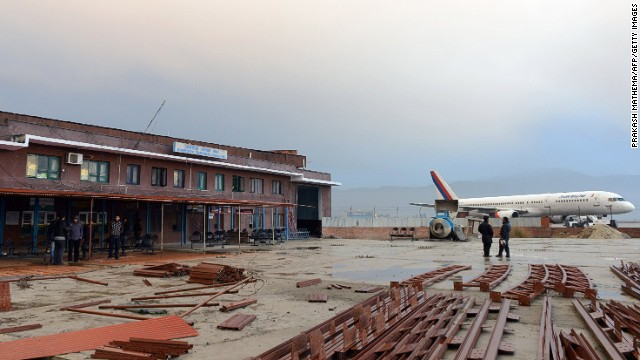 The domestic airport terminal building after a domestic plane crashed in in Kathmandu on February 16, 2014.