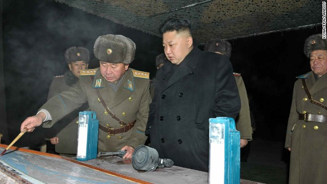 A photo released by the North Korean Central News Agency on Thursday, January 23, shows North Korean leader Kim Jong Un inspecting a North Korean army unit during a winter drill.