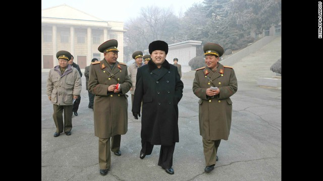 A picture released by the KNCA on Wednesday, December 25, shows Kim visiting an army unit near the western port city of Nampo.