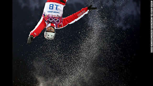 Thomas Lambert of Switzerland skis during qualification for the men's aerials on February 17.