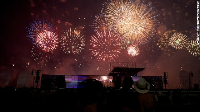 The Dubai World Cup has taken place annually since 1996. Before the action begins at the Meydan Racecourse, patrons are treated to a spectacular firework display.