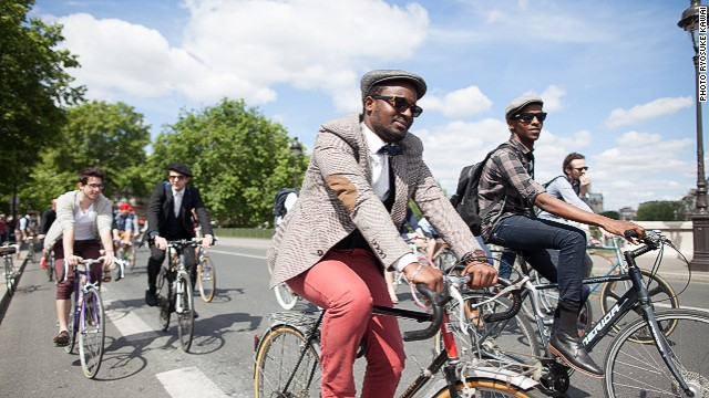 "Each summer, the city is overtaken by 10,000 cyclists in 1930s costumes, as part of its annual ""Beret and Baguette"" ride."