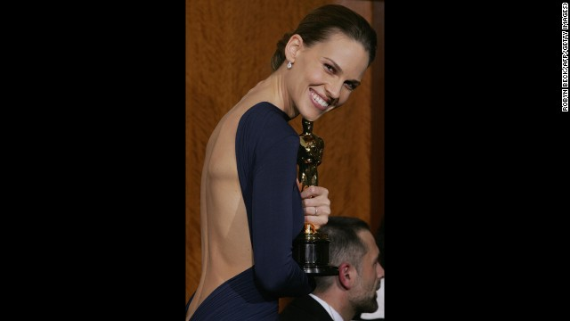 "Hilary Swank grabbed her second Academy Award in 2005 for the film ""Million Dollar Baby."""