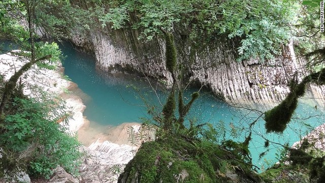 Within the Sochi region, the Caucasian Biosphere Reserve is the second largest of its kind within Europe. Devil's Gate Canyon (pictured) has five-meter-deep freshwater pools for swimming.