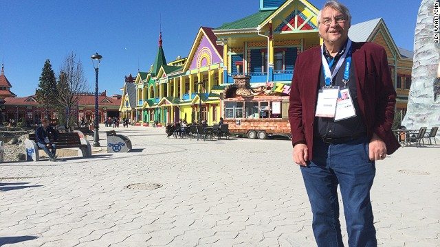 "Paul Beck (pictured) heads Sochi's $700 million new theme park. ""Change in Russia has been huge, even in a year. A new generation's coming,"" he says."