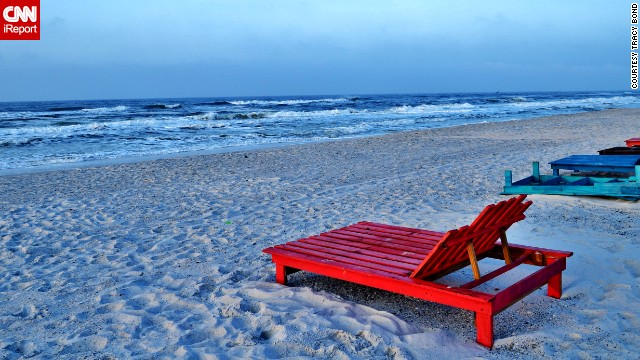 "Care to lounge? <a href='http://ireport.cnn.com/docs/DOC-1078272'>Tracy Bond</a> took this photo at Topsail Hill Preserve State Park near Destin. ""Each sunrise or sunset is unique and beautiful."""