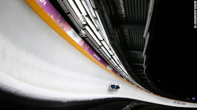 Alexander Zubkov and Alexey Voevoda of Russia won gold in the two-man bobsled on February 17.