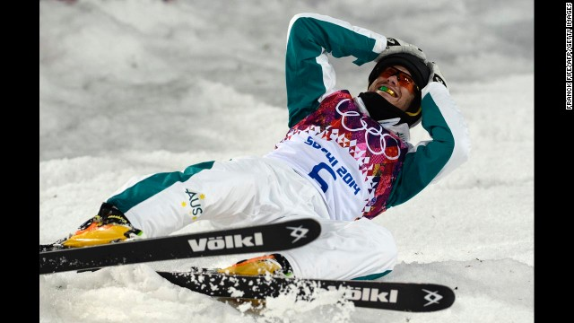 David Morris from Australia won silver in the men's aerials.
