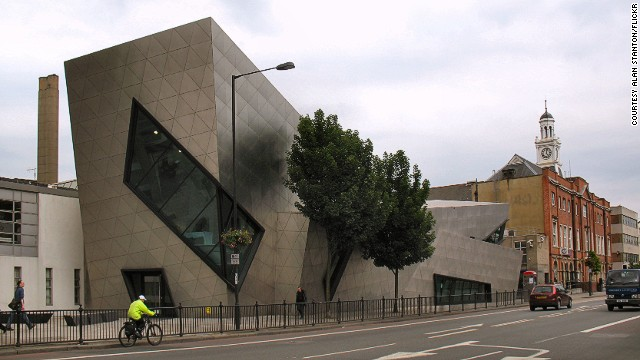 "The building won the ""RIBA Award"" in 2004, and the ""Building of the Year Award -- Royal Fine Arts Commission Trust -- Jeu D'Esprit"" in 2005. The building acts as a gateway to the London Metropolitan University on Holloway Road. <strong>Architects:</strong> Daniel Libeskind."