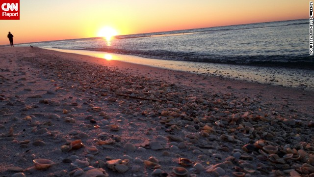 <a href='http://ireport.cnn.com/docs/DOC-1082776'>Michelle Sweeney</a> says a storm had passed through the day she arrived at Pensacola Beach, Florida, in November, and the sand was covered in seashells. She spent hours finding treasures to add to her collection.
