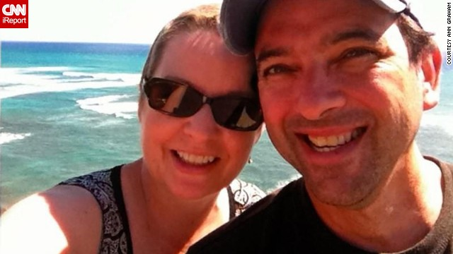 "Graham and her husband went to Hawaii for her 25th high school reunion a couple of months after she completed treatment. Her classmates postponed the reunion until she could make it. The couple called the trip their ""F U Cancer Tour."""