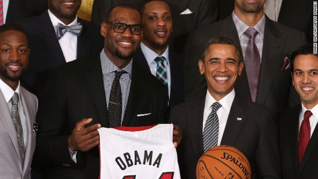Obama: LeBron James podría ser tan bueno como Michael Jordan