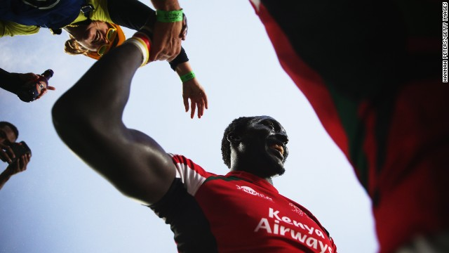 Kenyan rugby star Humphrey Kayange is in the midst of the HSBC Sevens World Series circuit, which ends in May with the finale in England.