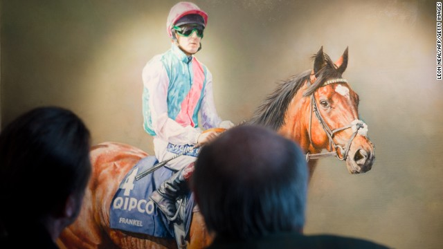 Frankel, however, has already gone down in folklore. This oil painting at Newmarket is among his many depictions on canv
