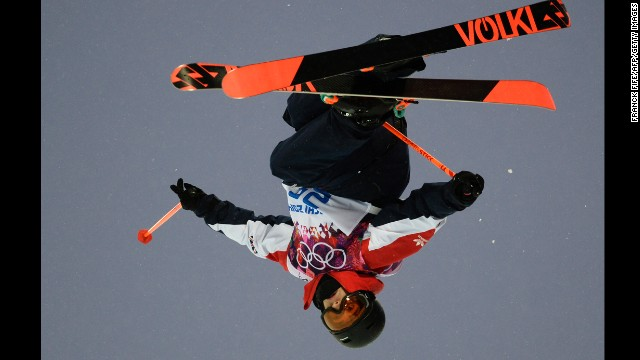 British skier Murray Buchan competes in the men's halfpipe on February 18.
