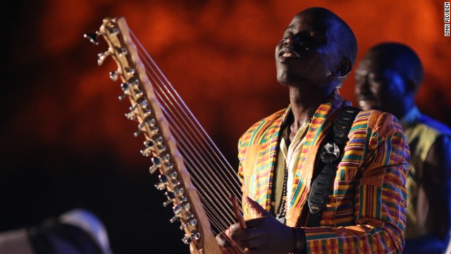 One of Uganda's best young folk artists Joel Sebunjo plays at Sauti za Busara. This year, the festival features more than 200 artists from 32 countries.