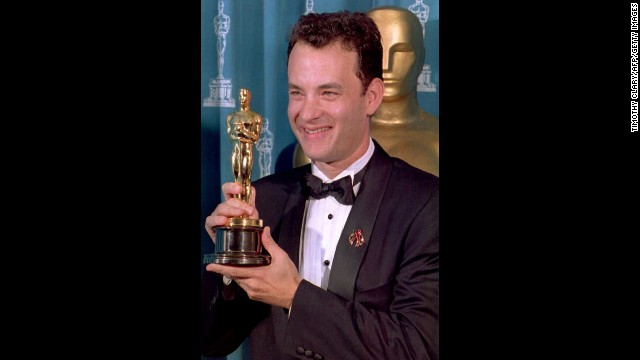"Little did anyone know that when Tom Hanks won the best actor Oscar for the legal drama ""Philadelphia"" he'd be back at the Oscars very soon, and in a very different role."