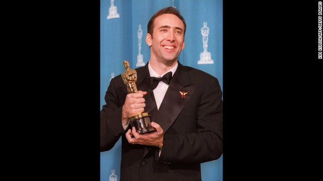 "Nicolas Cage may now be the butt of Internet jokes -- surely you've seen him swing from a ""Wrecking Ball""? -- but he was the man to beat at the 1996 Oscar ceremony. Cage won the best actor prize for ""Leaving Las Vegas,"" his first nomination and first win."
