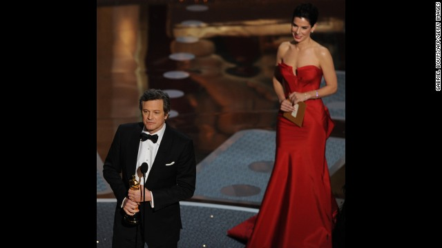 "Colin Firth's portrayal of King George VI's fight to overcome a speech impediment beat out Jesse Eisenberg (""The Social Network"") and James Franco (""127 Hours""), among others, to win the best actor Oscar."