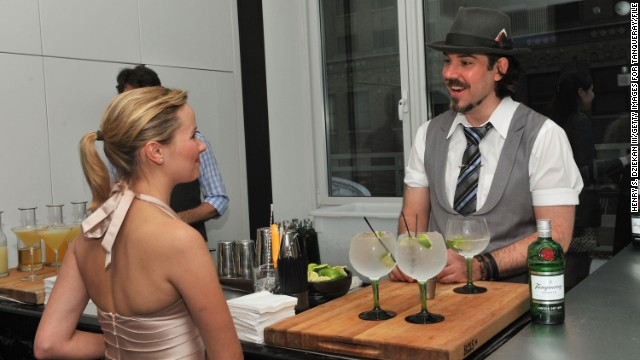 Cocktail fans attend a Tanqueray gin event during the 2011 Manhattan Cocktail Classic in New York. While many festivals have a home base, the cocktail classic lives in the places where tipples are sipped: in the city's best bars, restaurants, hotels and even art museums, galleries, theaters and libraries.