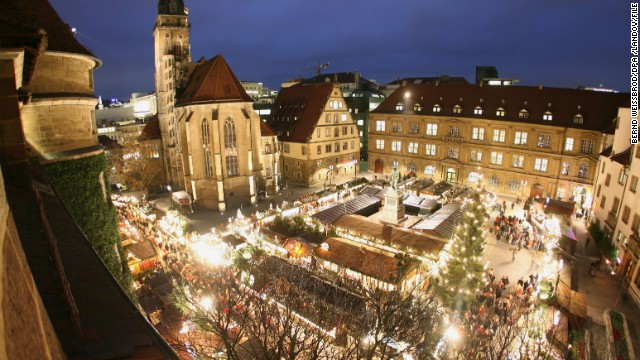 While Stuttgart, Germany's, Christmas market offers far more than food, traditional German fare makes this market a tremendous shopping compromise in December.