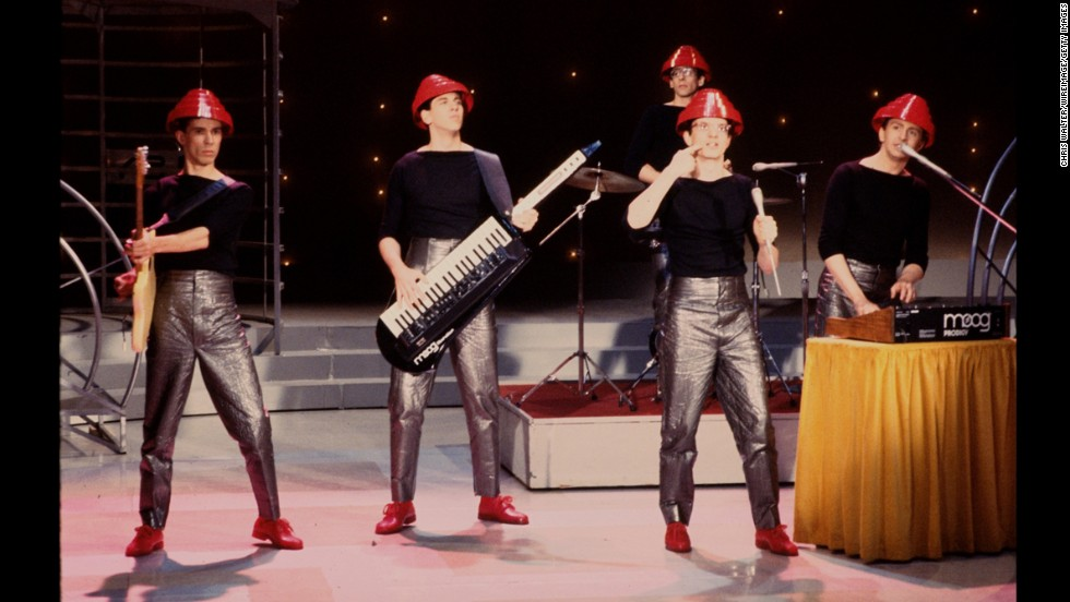 """The band Devo plays in 1981. Although Devo never quite managed to maintain the mainstream success it found with the song """"Whip It!"""" in 1980, its status as an important group hasn't wavered. Take a look back at the styles of the American new wave band."""