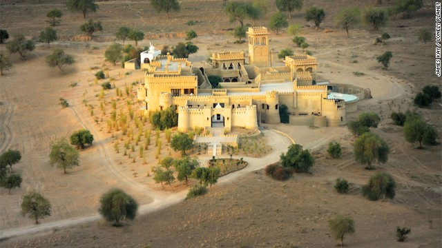 "Lonely Planet picked 10 hotels as its ""most extraordinary places to stay"" as part of its inaugural world's best hotels list. It took 150 artisans and laborers two years to build Mihir Garh, which has just nine luxurious suites in India's Thar Desert."