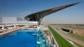 The pool overlooking the racecourse at the Meydan Hotel