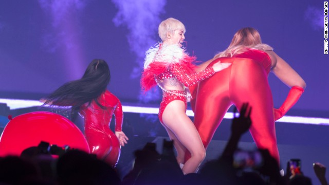 "In April the singer was doing her thing on stage when a fight broke out between fans at a show in Detroit. Cyrus <a href='http://www.torontosun.com/2014/04/14/miley-cyrus-films-fight-between-fans-at-concert' target='_blank'>reportedly took time out to record the two women fighting for her Instagram account and can be heard yelling ""Catfight!""</a>"