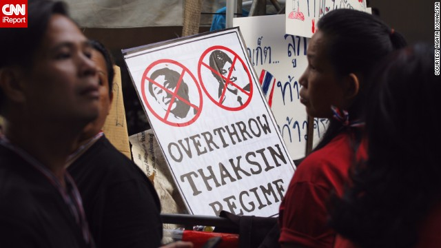 Freelance translator and journalist <a href='http://ireport.cnn.com/docs/DOC-1081107'>Agata Kowalska</a> captured these images of anti-government protesters in Bangkok a day before the country's troubled elections on February 2.