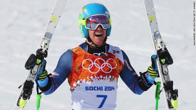 Ted Ligety became the first American man to win the giant slalom.