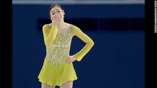 Yuna Kim of South Korea competes in the figure skating event.