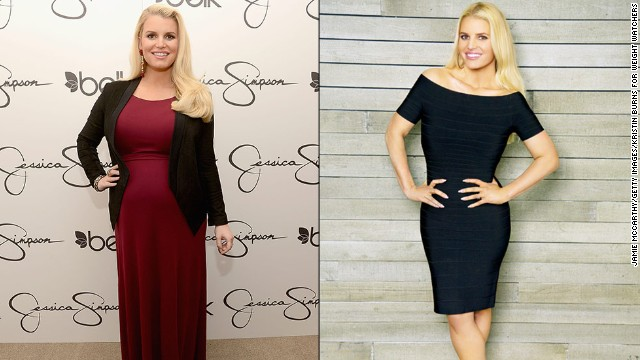 "Jessica Simpson shows off a supersvelte look in <a href='http://www.youtube.com/watch?v=m-apbPOVGrM' target='_blank'>a Weight Watchers ad </a>released in February. ""I was so insecure -- I couldn't even believe what I weighed,"" Simpson told ""Good Morning America."" The singer/fashion mogul says she is feeling better than ever since giving birth to her second child in June."