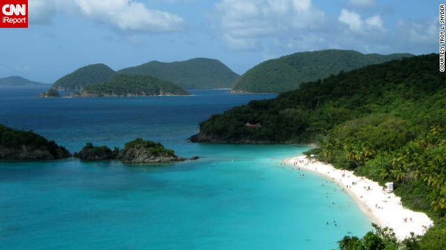a href='http://ireport.cnn.com/docs/DOC-1082913'Troy L. Snyder/a and his new bride soaked up this scene at Trunk Bay Beach in Virgin Islands National Park on their honeymoon last summer. Imagine yourself on the beach ...