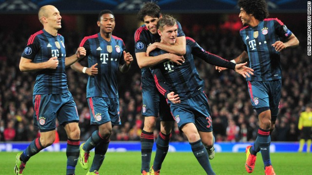 Bayern is on course to qualify for the quarterfinals of the Champions League following the first-leg 2-0 win over Arsenal. It is unbeaten in 47 Bundesliga matches and sits 19 points clear at the top of the table.