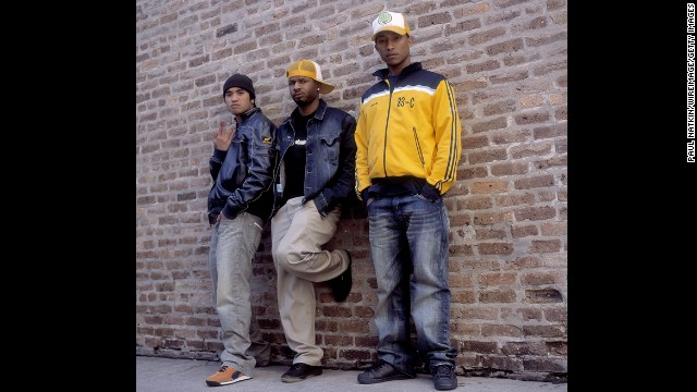Here's Pharrell on the right with his band N.E.R.D. in August 2002. The producer/singer/songwriter's hats have gotten bigger, but his face has stayed the same.
